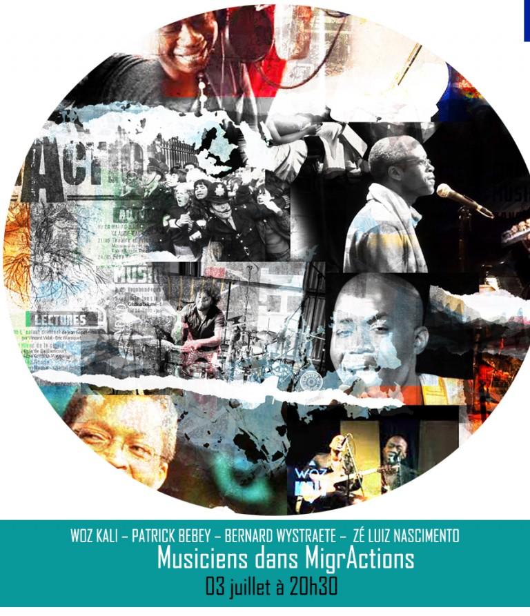 WOZ KALI – PATRICK BEBEY – BERNARD WYSTRAETE –  ZÉ LUIZ NASCIMENTO / MUSICIENS DANS MIGRACTIONS║ 03 juillet à 20h30