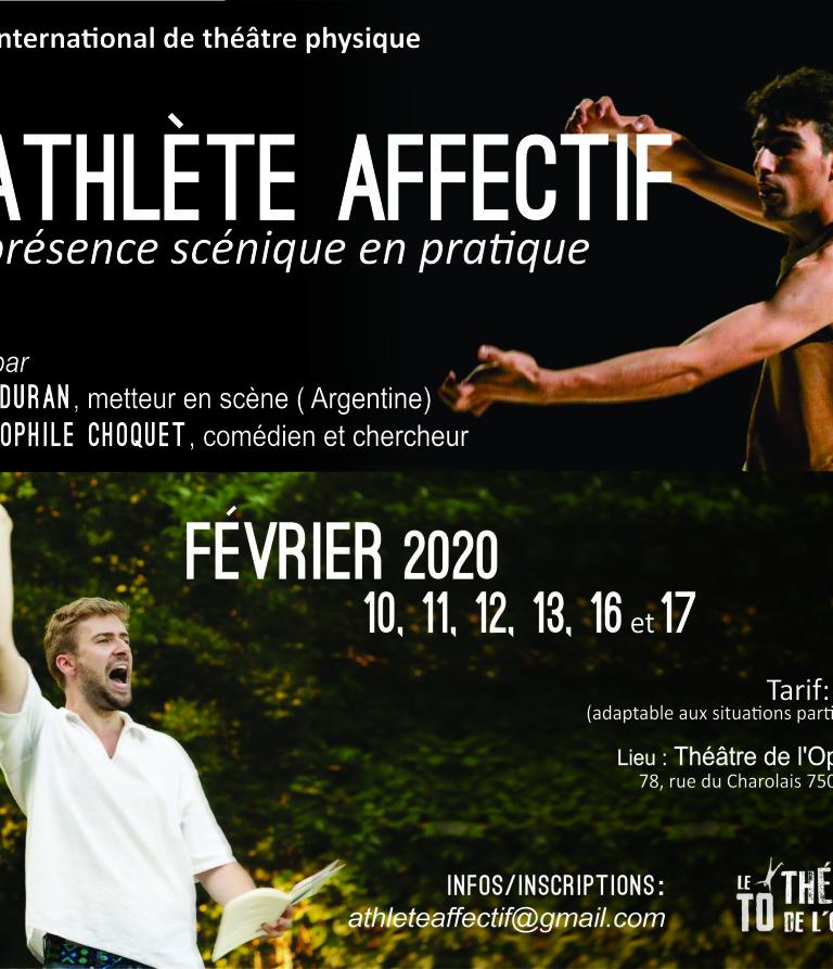 Stage : L'Athlète Affectif // 10 > 17 Fév