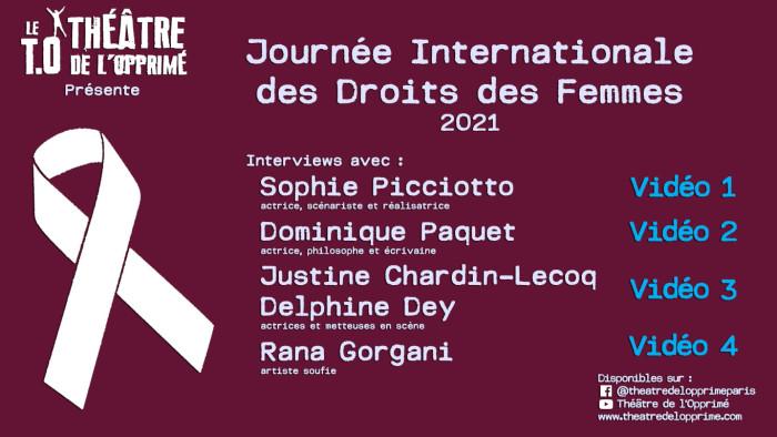 Journée droits des femmes 2021 - affiche
